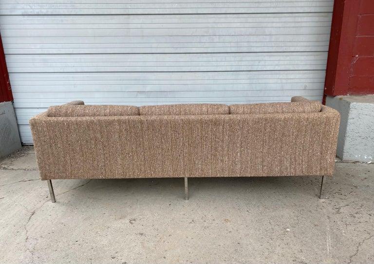 Milo Baughman Attributed Chrome Three-Seat Sofa, Mid-Century Modern For Sale 3