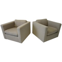 Milo Baughman Cube Lounge Chairs for Thayer Coggin