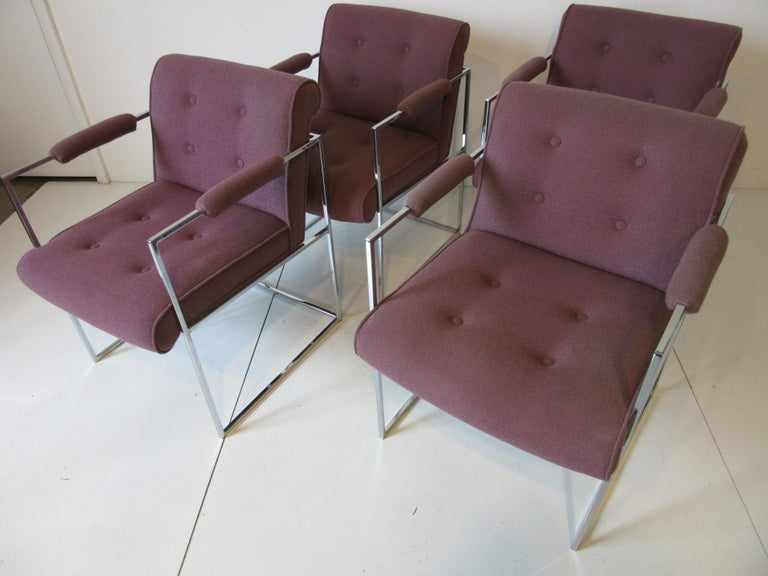 20th Century Milo Baughman Dining Armchairs for Thayer Coggin  For Sale