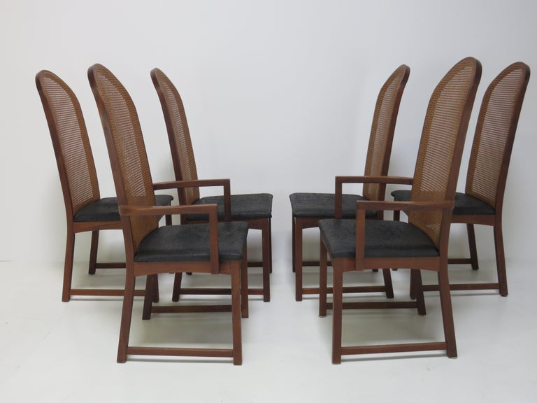 American Milo Baughman Dining Chairs For Sale
