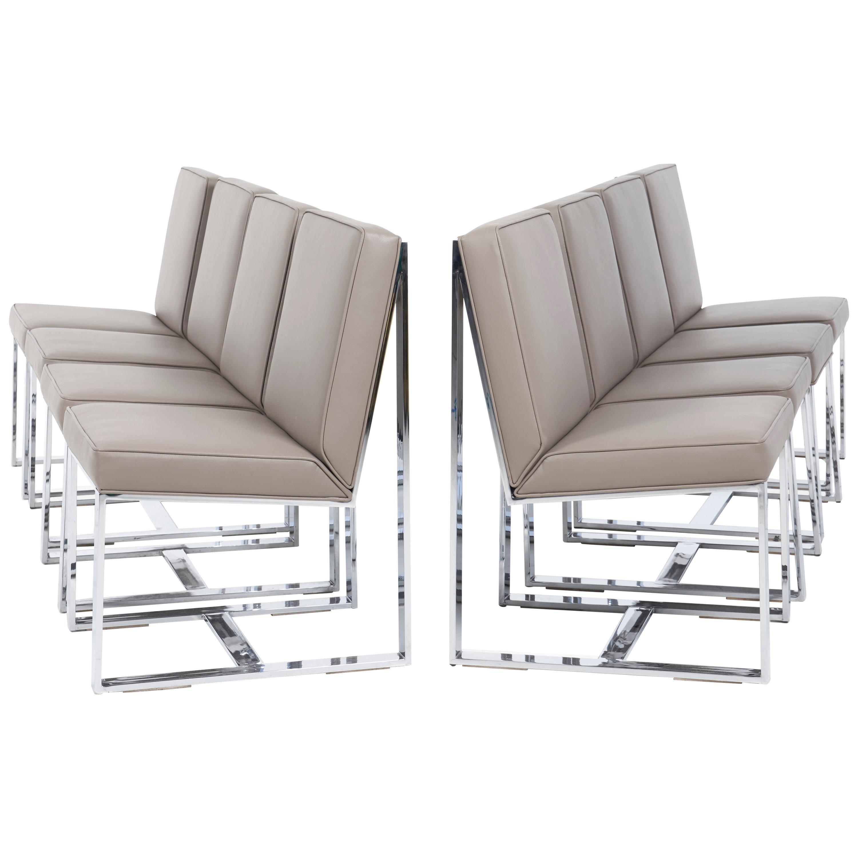 Milo Baughman Dining Chairs, Set of 8