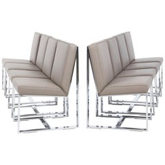 Milo Baughman Dining Chairs, Set of 8