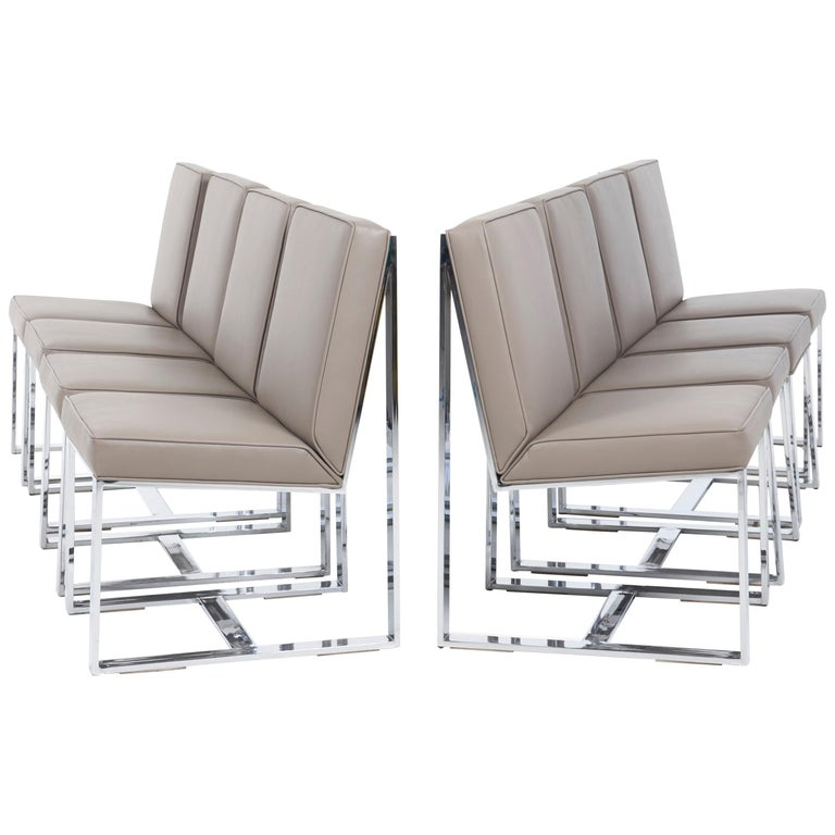 Milo Baughman Dining Chairs, Set of 8 For Sale