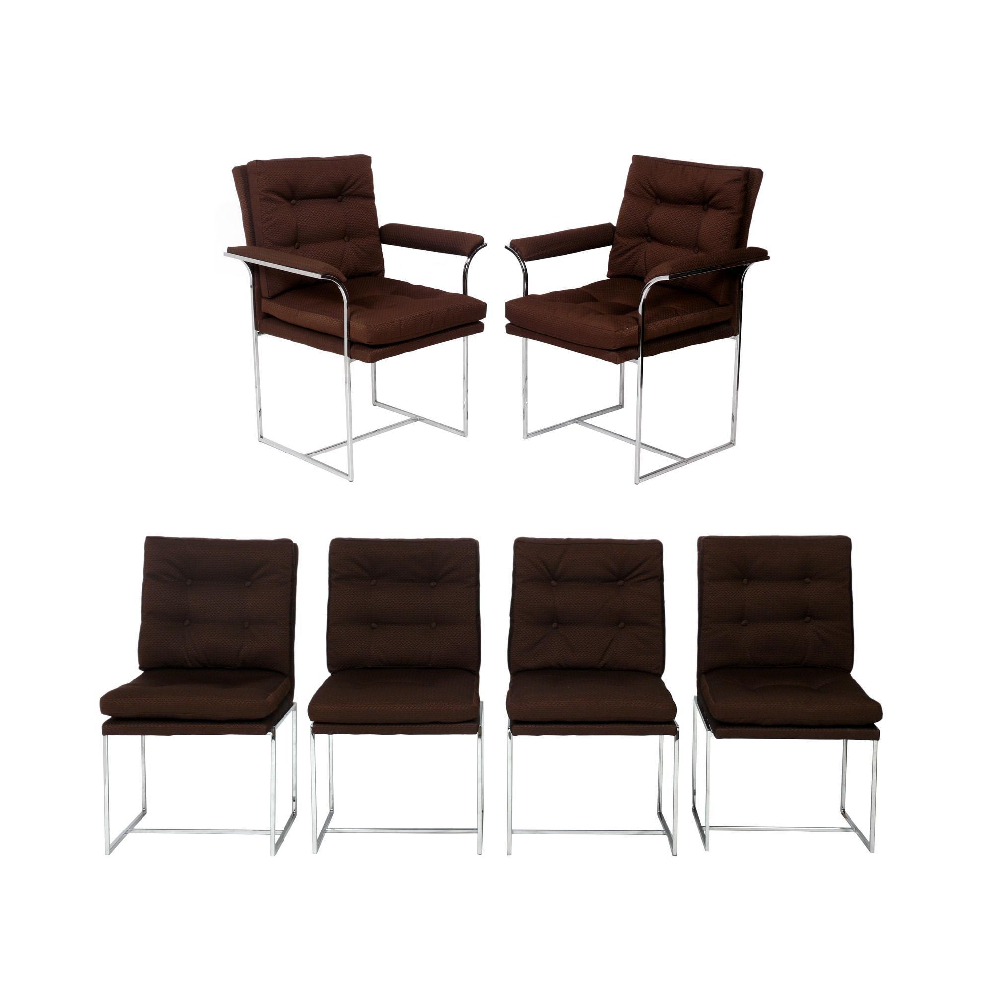 Milo Baughman Dining Chairs, Set of Six