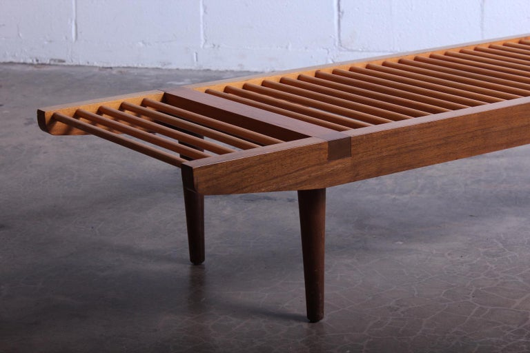 Milo Baughman Dowel Bench for Glenn of California For Sale 6