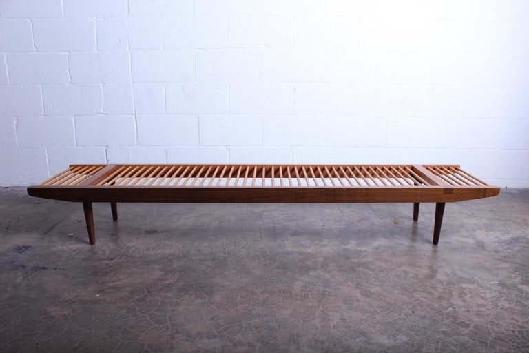 Milo Baughman Dowel Bench for Glenn of California In Good Condition For Sale In Dallas, TX