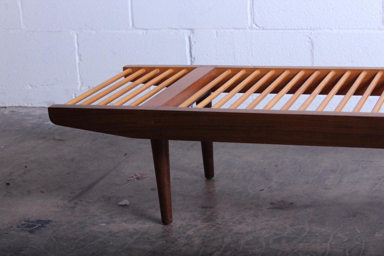 Mid-20th Century Milo Baughman Dowel Bench for Glenn of California For Sale