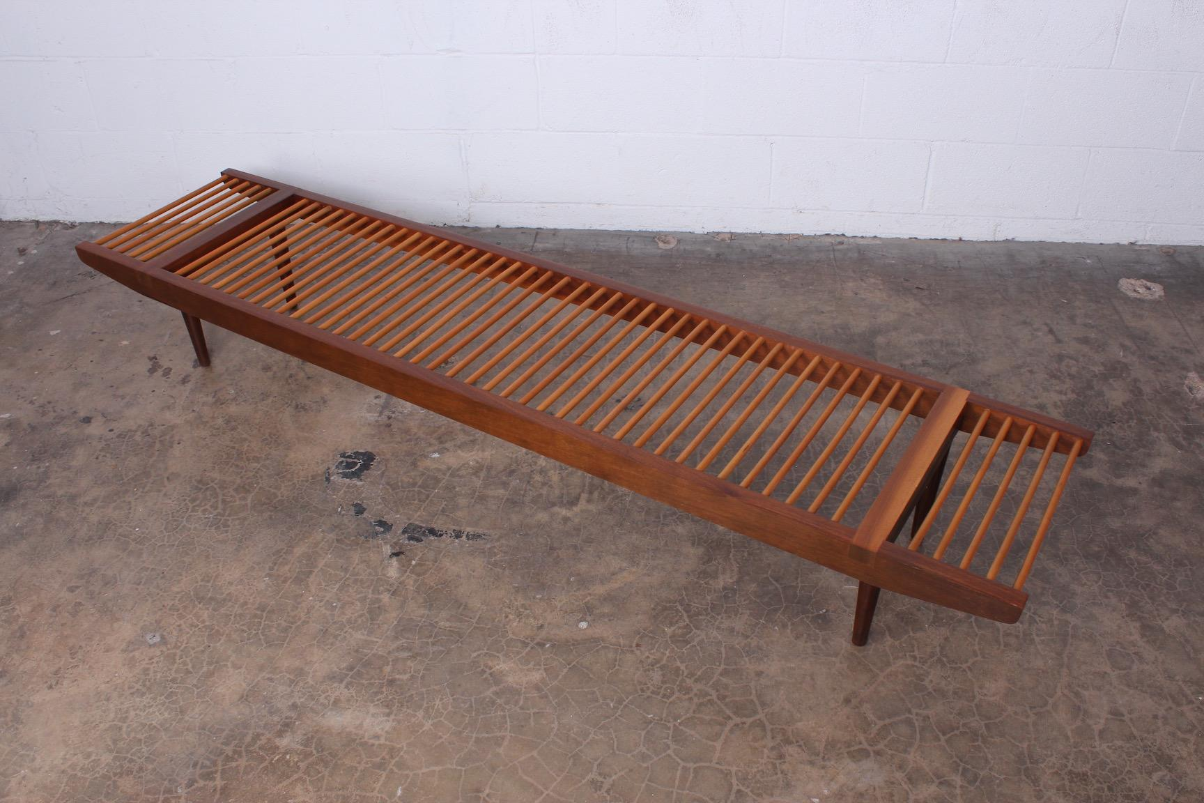 Awesome Milo Baughman Dowel Bench For Glenn Of California Andrewgaddart Wooden Chair Designs For Living Room Andrewgaddartcom