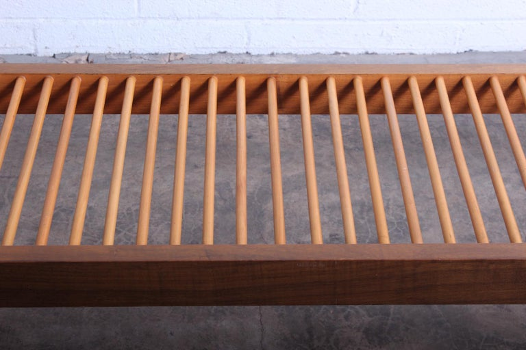 Milo Baughman Dowel Bench for Glenn of California For Sale 1