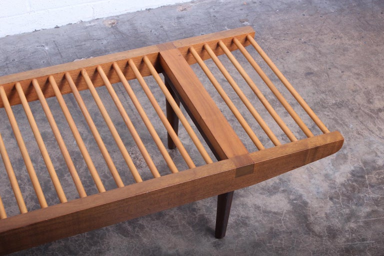 Milo Baughman Dowel Bench for Glenn of California For Sale 2