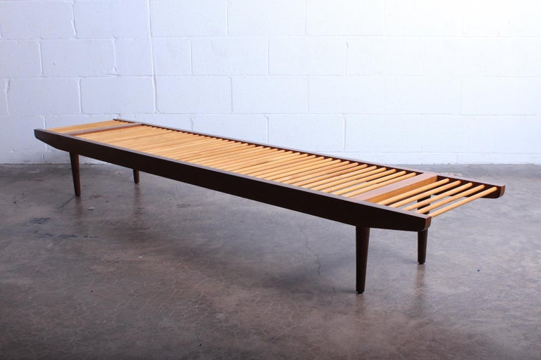 Milo Baughman Dowel Bench for Glenn of California For Sale 4