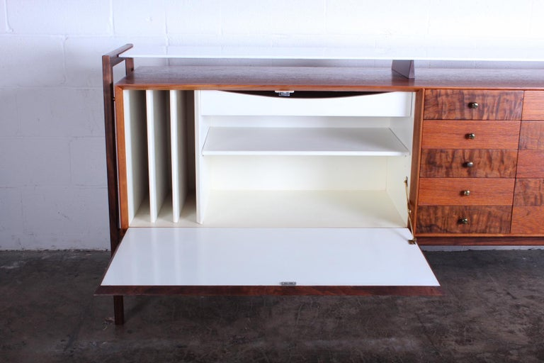 Milo Baughman for Arch Gordon Cabinet with Vitrolite Top For Sale 5