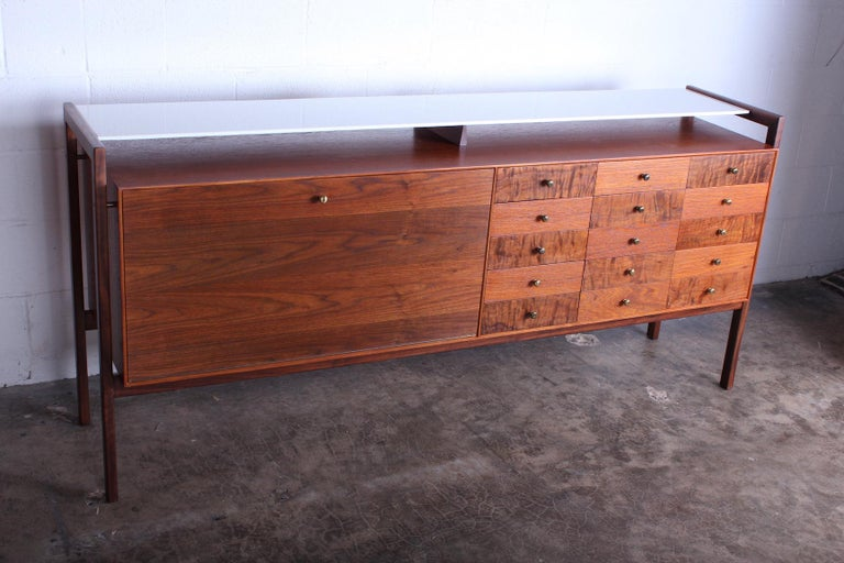 Mid-20th Century Milo Baughman for Arch Gordon Cabinet with Vitrolite Top For Sale