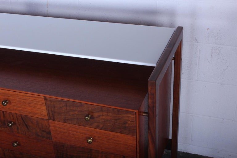 Milo Baughman for Arch Gordon Cabinet with Vitrolite Top For Sale 1