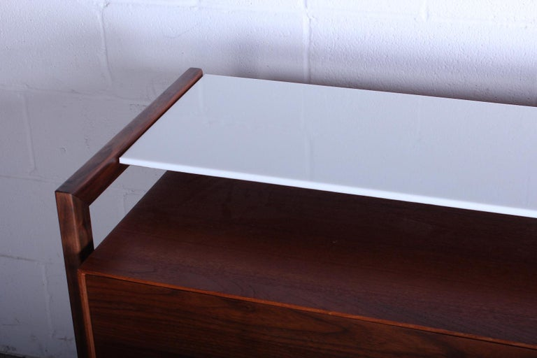 Milo Baughman for Arch Gordon Cabinet with Vitrolite Top For Sale 3