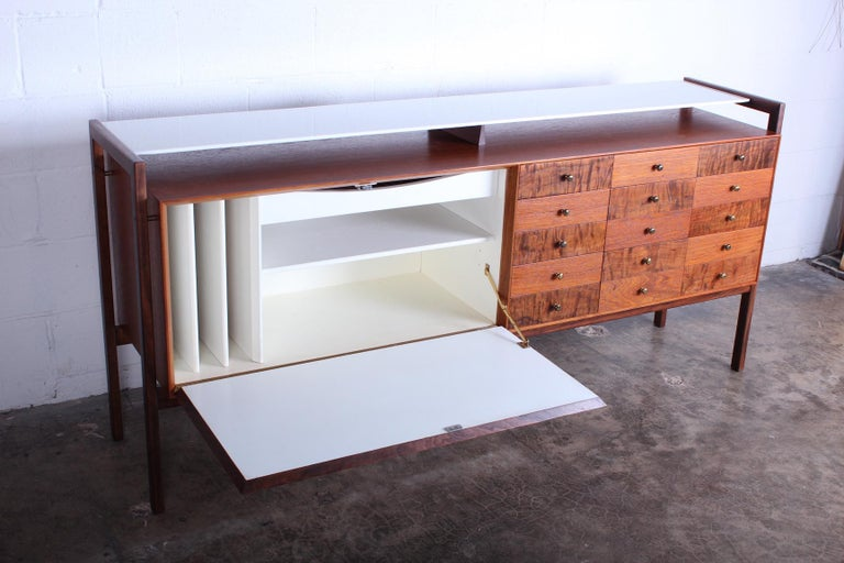 Milo Baughman for Arch Gordon Cabinet with Vitrolite Top For Sale 4