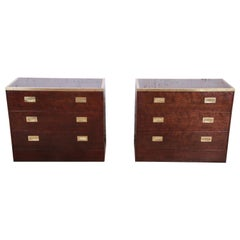 Milo Baughman for Directional Campaign Style Bachelor Chests or Nightstands
