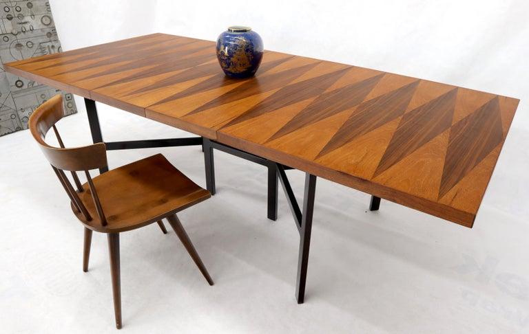 Milo Baughman for Directional Dimond Teak & Walnut Dining Table Gate Legs Base  For Sale 6