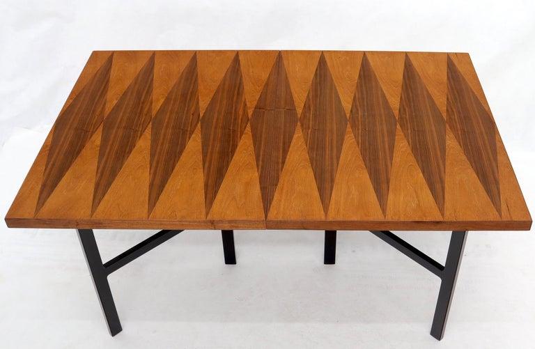 Milo Baughman for Directional Dimond Teak & Walnut Dining Table Gate Legs Base  For Sale 9