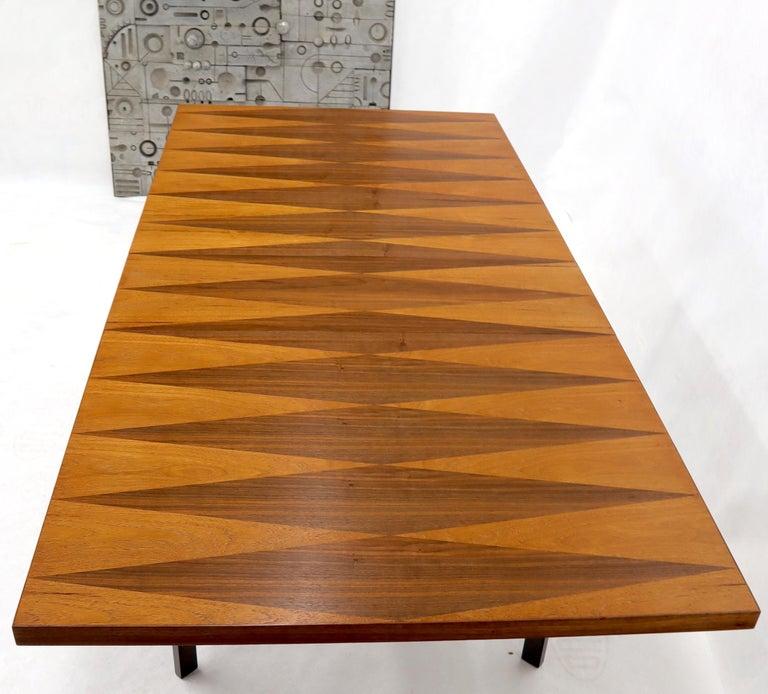 Milo Baughman for Directional Dimond Teak & Walnut Dining Table Gate Legs Base  For Sale 1
