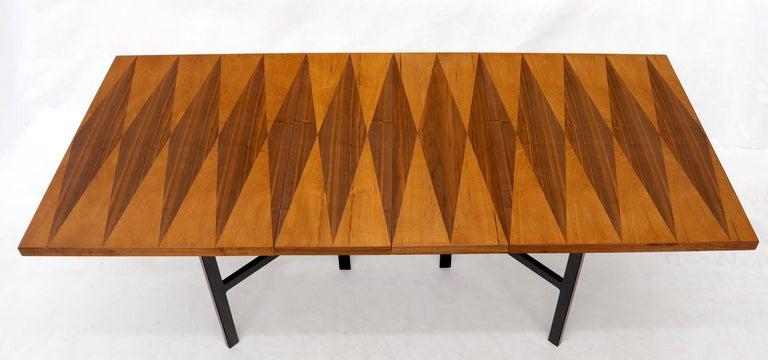 Milo Baughman for Directional Dimond Teak & Walnut Dining Table Gate Legs Base  For Sale 2