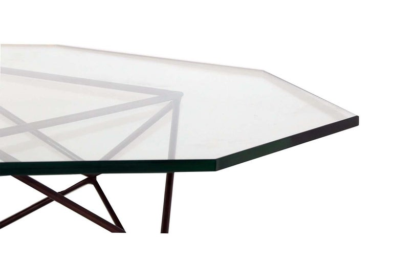 Milo Baughman for Directional Geometric Bronze Glass Coffee Table For Sale 3