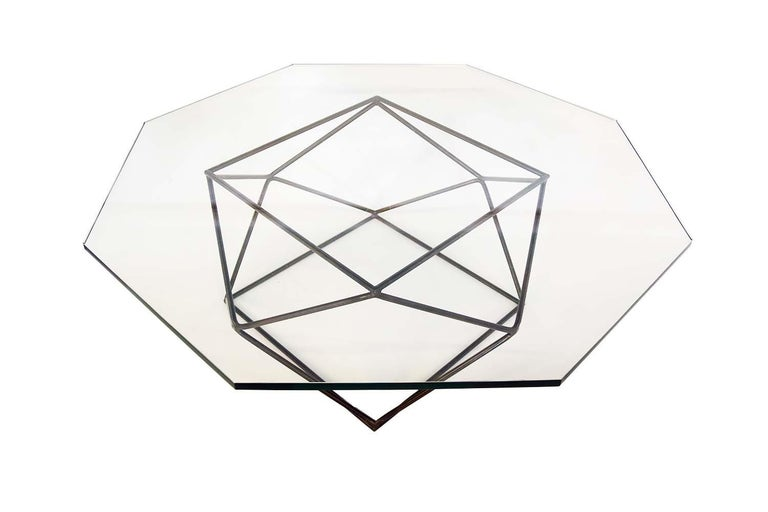 Late 20th Century Milo Baughman for Directional Geometric Bronze Glass Coffee Table For Sale
