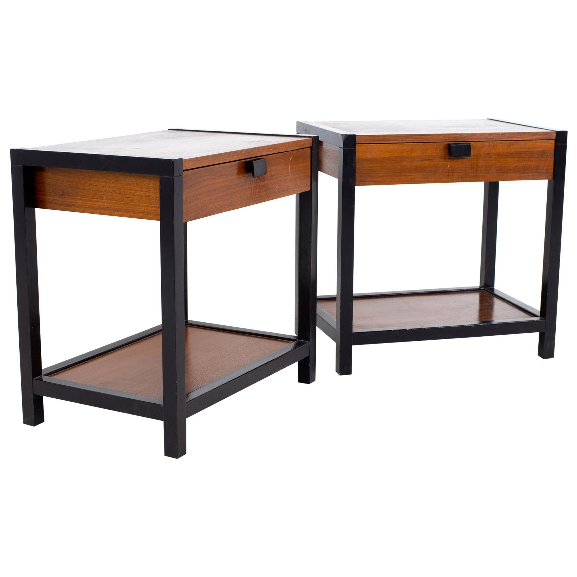 Milo Baughman for Directional Mid Century Nightstands, a Pair