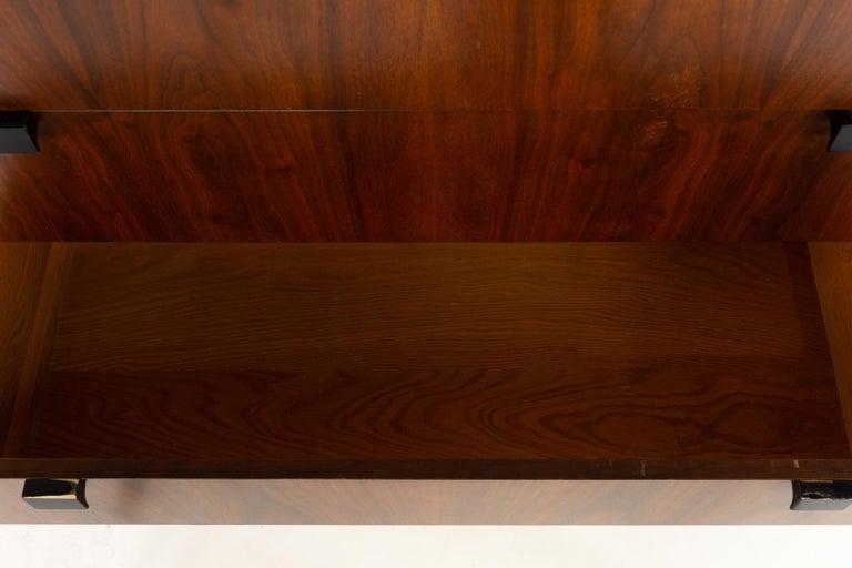 Milo Baughman for Directional Mid Century Walnut 5 Drawer Highboy Dresser For Sale 3