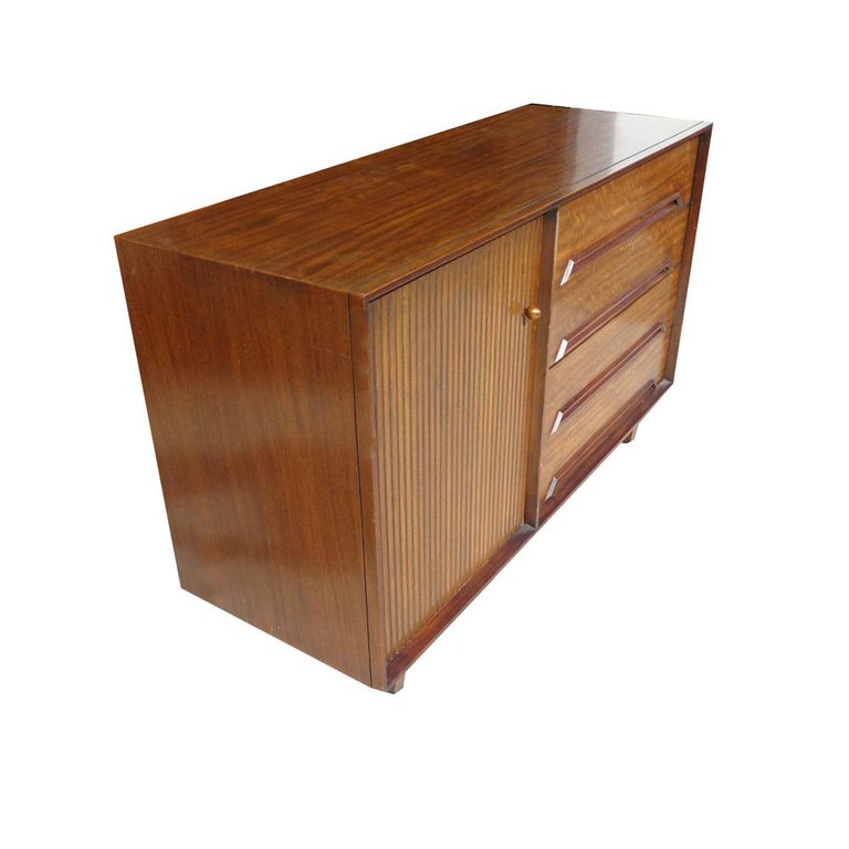 Milo Baughman for Drexel Perspective buffet or credenza  This gorgeous Drexel credenza was part of a special collection designed by Milo Baughman in the 1950s. Has a sleek finish, reflection can be seen in photos. Still has its original label
