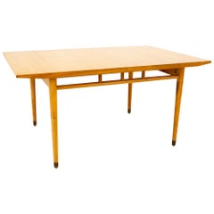 Milo Baughman for Drexel Todays Living Midcentury Blonde Dining Table