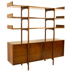 Milo Baughman for Glenn of California Midcentury Room Divider Bookshelf