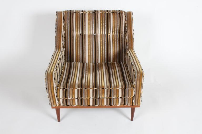 Walnut Milo Baughman for James Inc. Lounge Chair For Sale