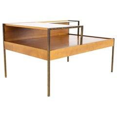 Milo Baughman for Murray Furniture Mid Century 2 Tier Corner Side Table