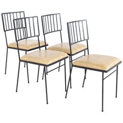 Milo Baughman For Pacific Iron Works Mid Century Chairs - Set of 4