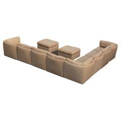 Milo Baughman for Thayer Coggin 10 Piece Curved Modular Sectional Sofa