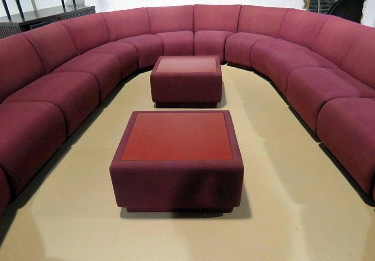 American Milo Baughman for Thayer Coggin 20 Piece Modular Living Room Set For Sale