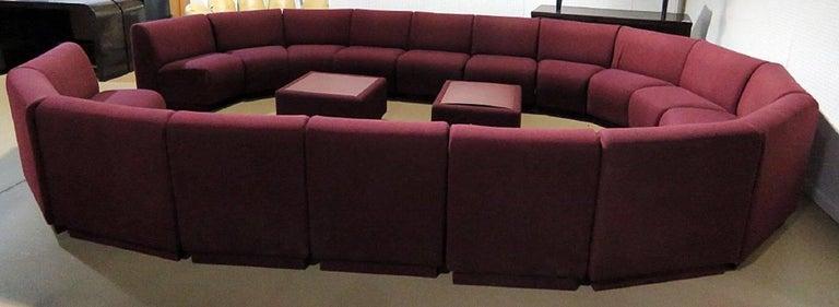 Late 20th Century Milo Baughman for Thayer Coggin 20 Piece Modular Living Room Set For Sale