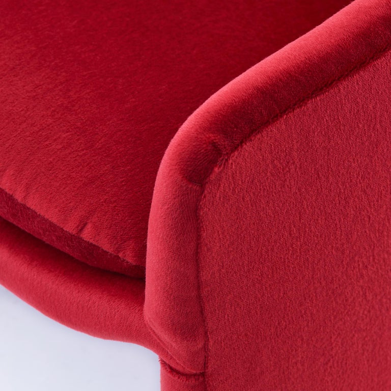 Milo Baughman for Thayer Coggin Barrel Dining Chairs in Mohair 1