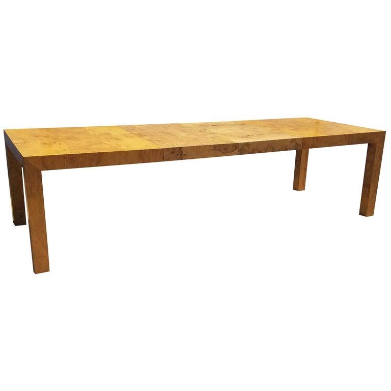 Milo Baughman for Thayer Coggin Burlwood Dining Table