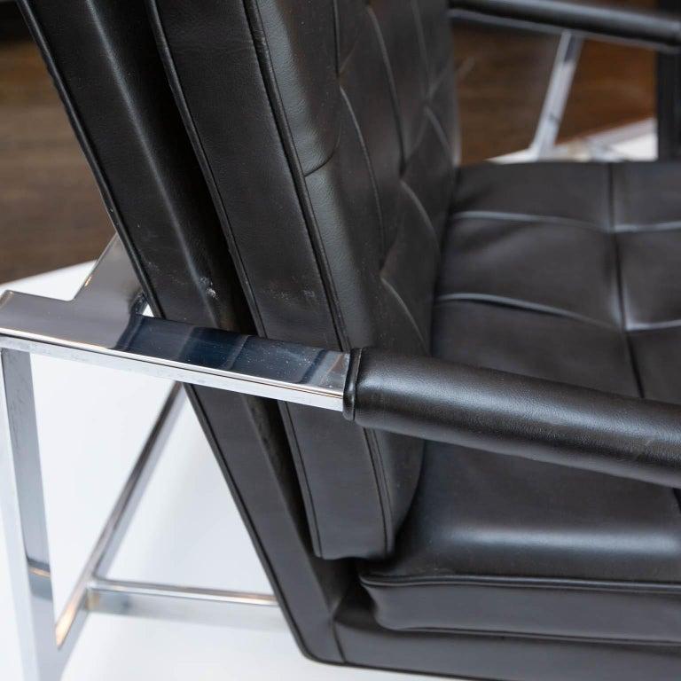 Mid-Century Modern Milo Baughman for Thayer-Coggin Chrome Armchairs For Sale