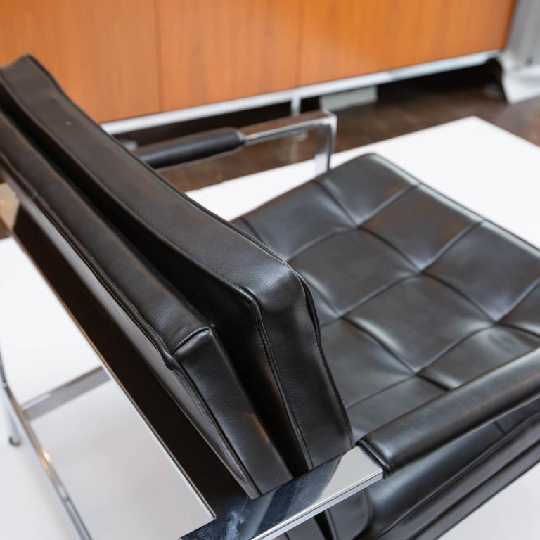 American Milo Baughman for Thayer-Coggin Chrome Armchairs For Sale