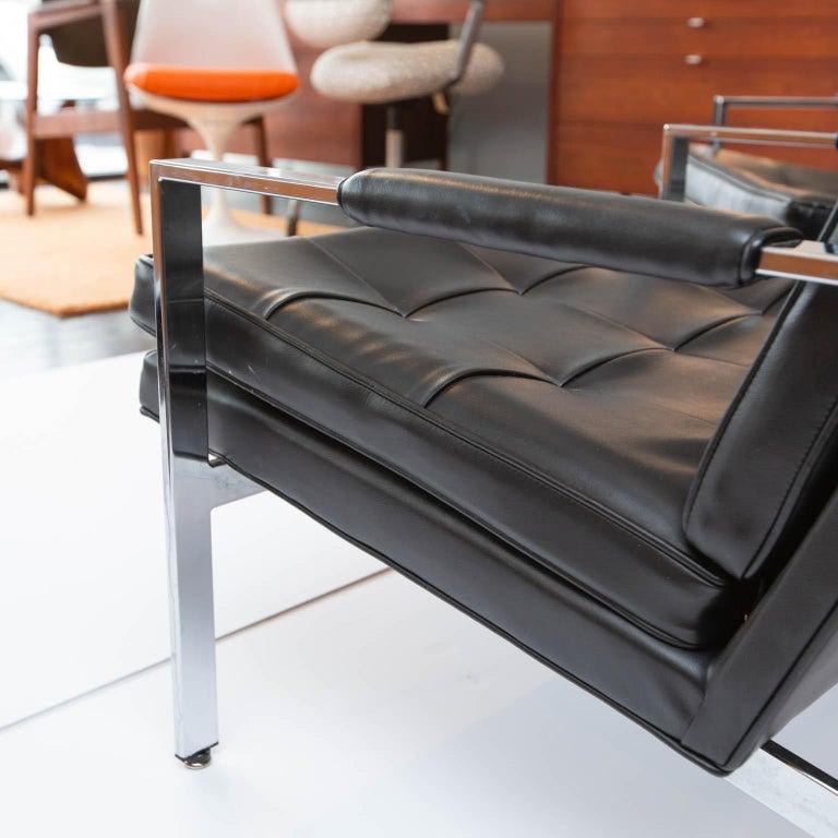 20th Century Milo Baughman for Thayer-Coggin Chrome Armchairs For Sale