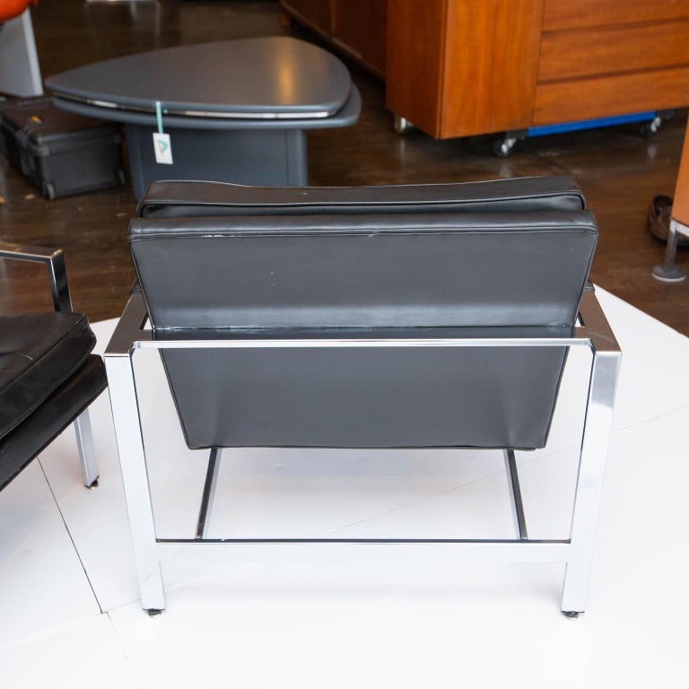 Milo Baughman for Thayer-Coggin Chrome Armchairs For Sale 1