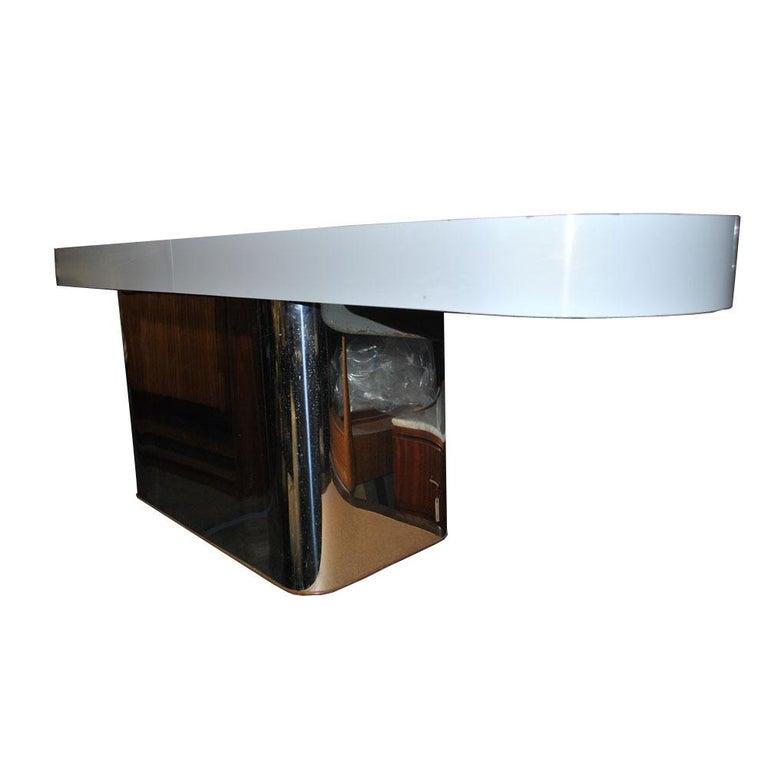 Milo Baughman For Thayer Coggin Console Sofa Table In Good Condition For Sale In Pasadena, TX