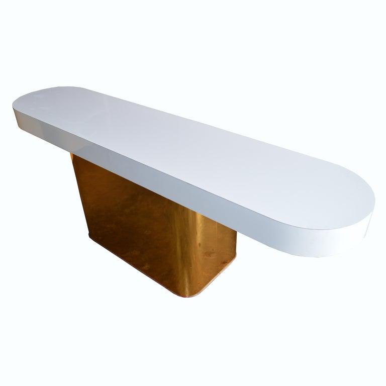 Milo Baughman For Thayer Coggin Console Table & Stools 2