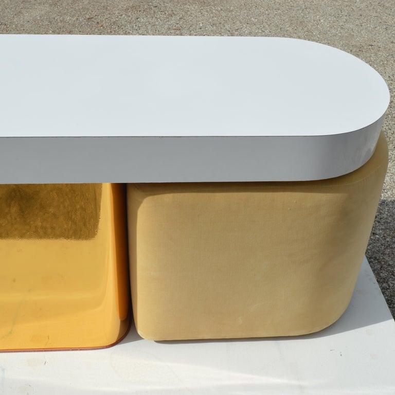 Milo Baughman For Thayer Coggin Console Table & Stools In Good Condition In Pasadena, TX