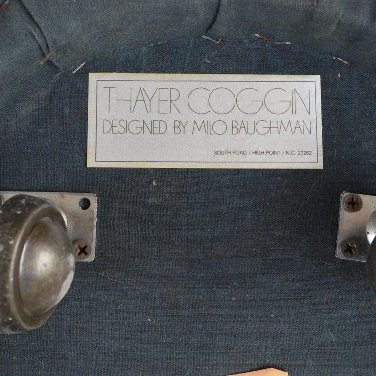 Late 20th Century Milo Baughman For Thayer Coggin Console Table & Stools