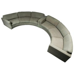 Milo Baughman for Thayer Coggin Curved Semi-Circle Sectional Sofa, Signed