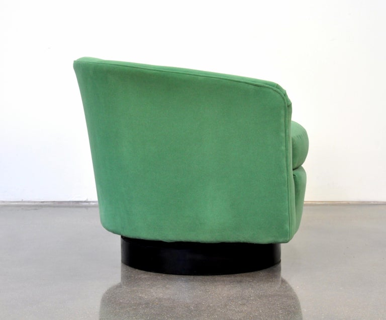 Milo Baughman For Thayer Coggin Emerald Green Velvet
